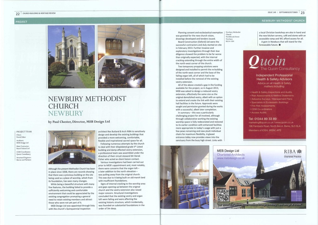 Newbury Methodist Church Article 2014 copy