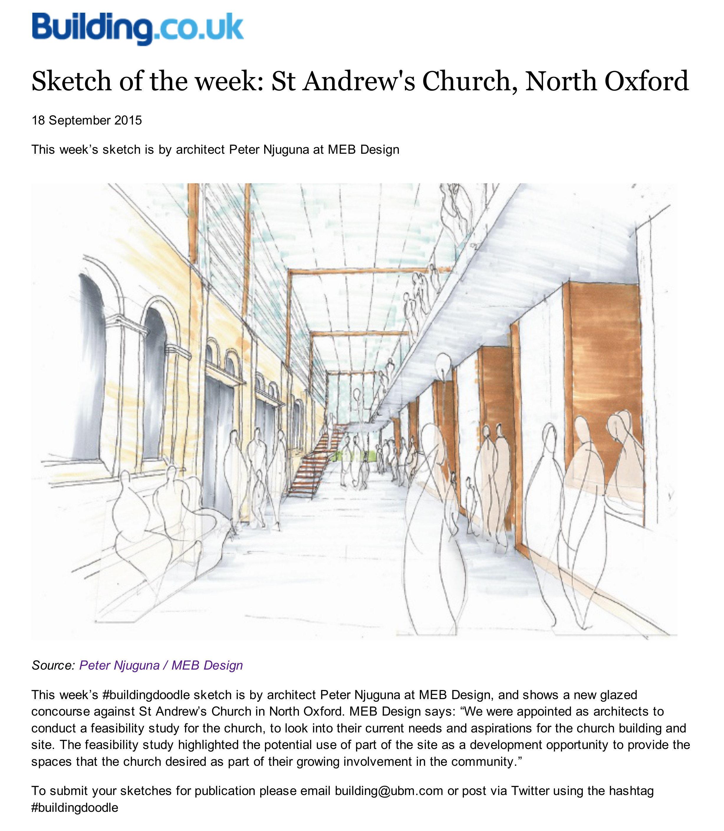 Sketch of the week_St Andrew's Church