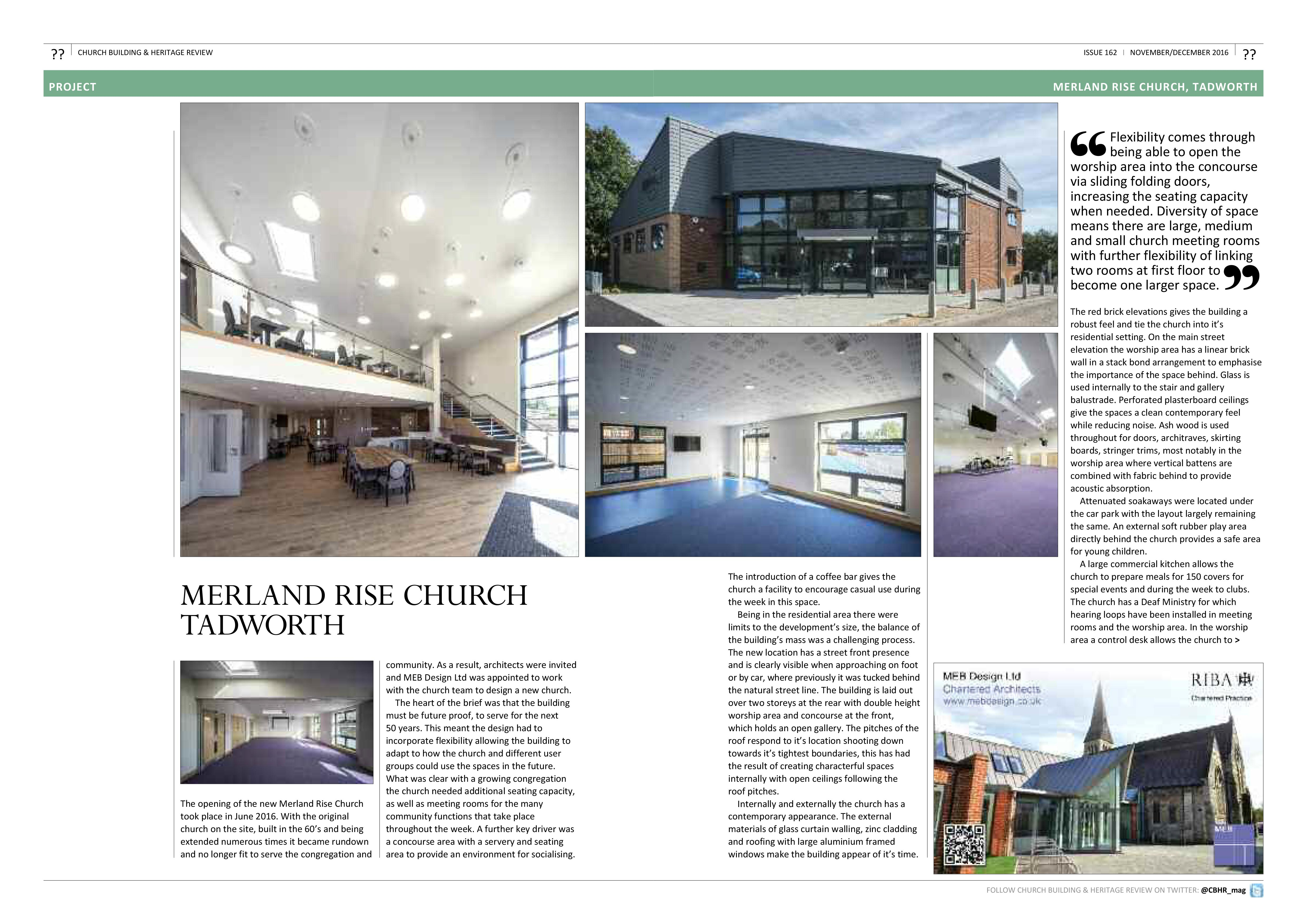 CHURCH BUILDING & HERITAGE REVIEW – MERLAND RISE CHURCH - MEB Design